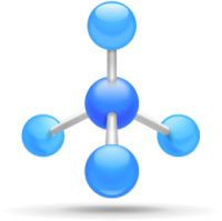 A networking symbol with joining nodes
