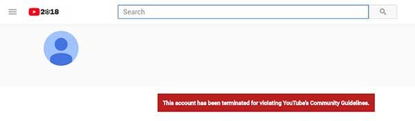 youtube terminating gambling accounts