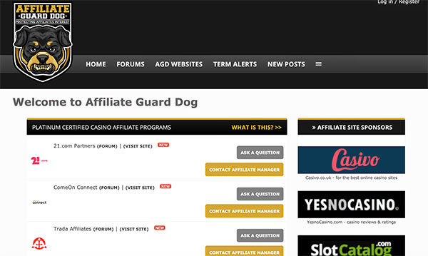 Affiliate Guard Dog forum for affiliates