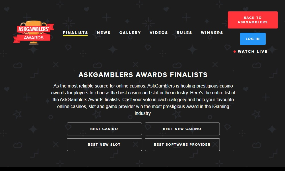 The AskGamblers Awards Finalists Names Are In