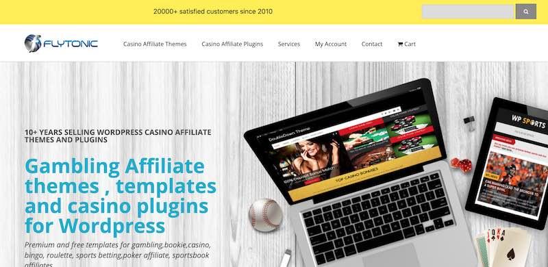 flytonic casino affiliate theme