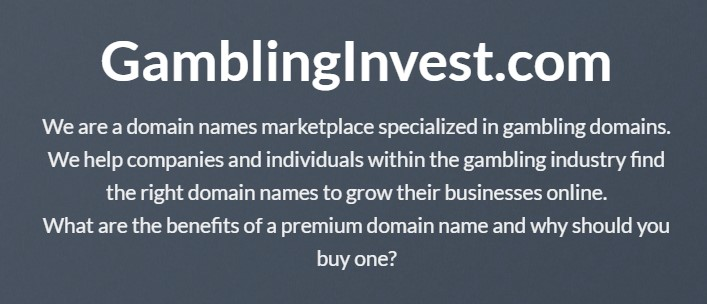 gambling invest vision