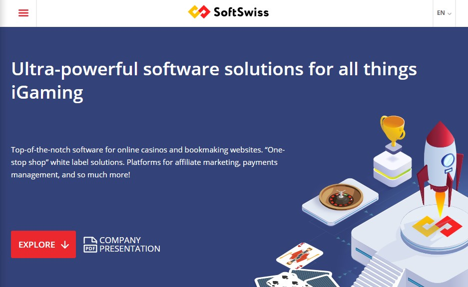 SoftSwiss Software Landing Page