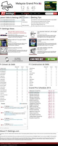 f1-bettings homepage design