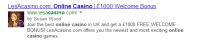lesacasino rich snippets